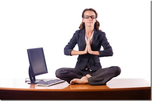 Parody of Meditation at work