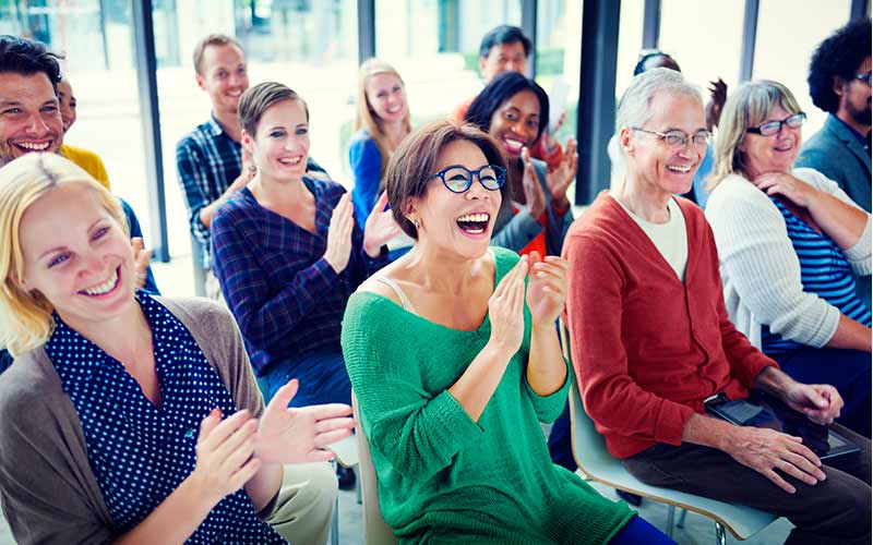 Group of People on Mindfulness Training
